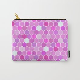Purple Mermaid Colourful Tiles Carry-All Pouch