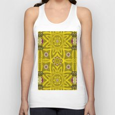 stars and flowers in the forest of paradise love popart Unisex Tank Top