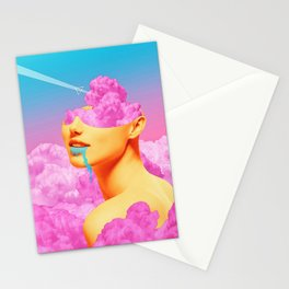 Pink Cloud Meta Woman Stationery Cards