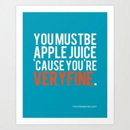 Forbidden Juice Art Print