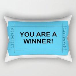 Blue Ticket Rectangular Pillow