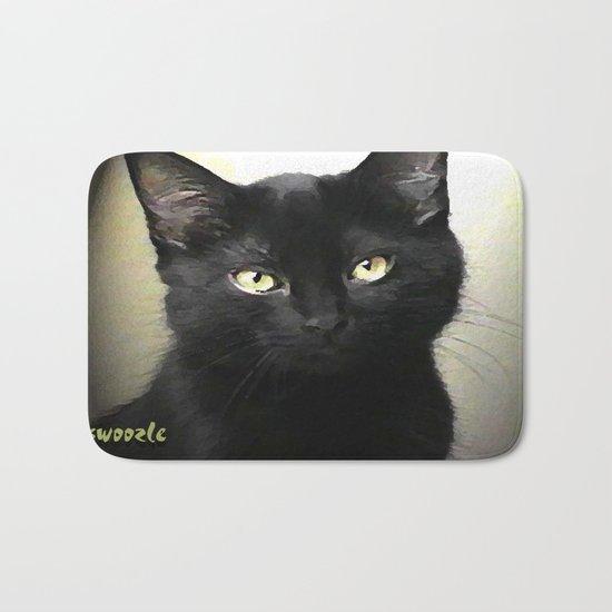 Swoozle's Black Cat in Repose Bath Mat