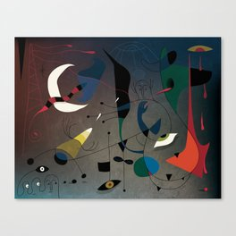Miró's Ghost Wakes Up from a Bad Reality Canvas Print