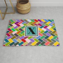 X Monogram Rug