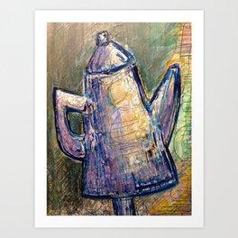Winston-Salem Coffee Pot Art Print