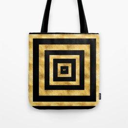ART DECO SQUARES BLACK AND GOLD #minimal #art #design #kirovair #buyart #decor #home Tote Bag