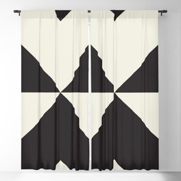 Split X Black Blackout Curtain