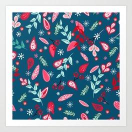 Festive petal pattern Art Print