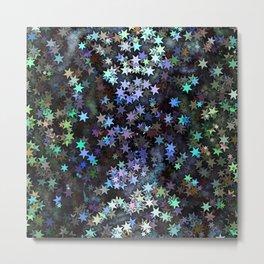 Fairy Light Stars Metal Print