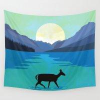 minimalist Wall Tapestries featuring  Minimalist nature by Tony Vazquez