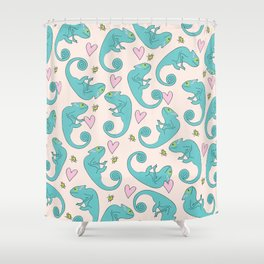 Chameleon Paisley Shower Curtain