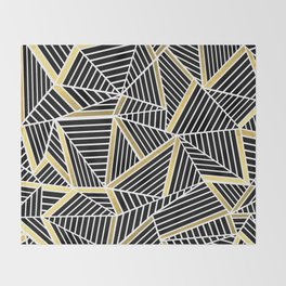 Ab Lines 2 Gold Throw Blanket