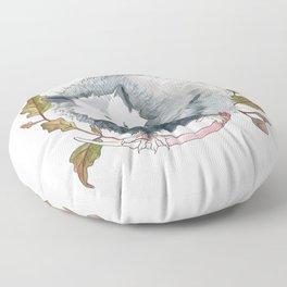 Possum and Oak Leaves Floor Pillow