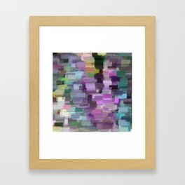 abstract colorful pastel drawing purple blue tones Framed Art Print