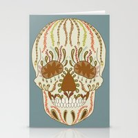 calavera Stationery Cards featuring CALAVERA by Nora