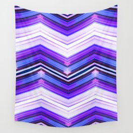 Geometric Wave - Ultra Violet Minimal Geometric Abstract Wall Tapestry