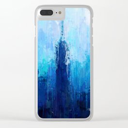 Empire State Building - New York City - Cityscape Wall Art, Poster, Impressionism Paintings, Prints Clear iPhone Case