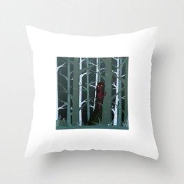 Demon Girl Throw Pillow