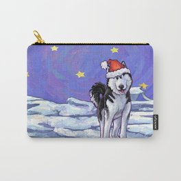 Husky Christmas Carry-All Pouch