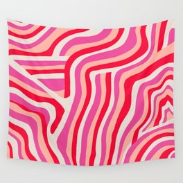 pink zebra stripes Wall Tapestry