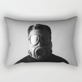 Czech M10M Gasmask Rectangular Pillow