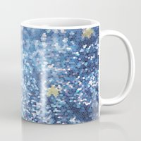 night sky Mugs featuring Night Sky by Elizabeth