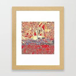 washington dc city skyline Framed Art Print