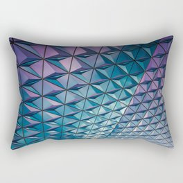 Blue Purple Geometric Pattern Rectangular Pillow