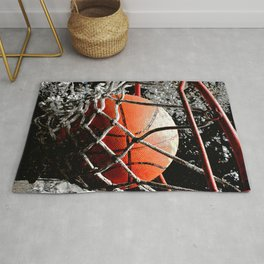Unique Basketball art print swoosh 125 - basketball art work Rug