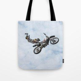 Motocross High Flying Jump Tote Bag
