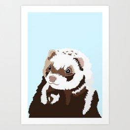 Ferret Illustration Art Print
