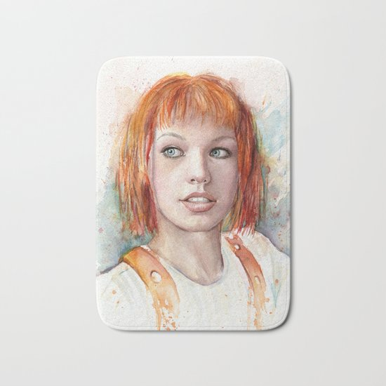 Leeloo Portrait Fifth Element Art Bath Mat