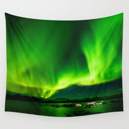 Northern Lights Aurora Borealis Wall Tapestry