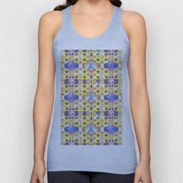 Bee Hive Psychedelic Visionary Geometric Art Print Unisex Tank Top