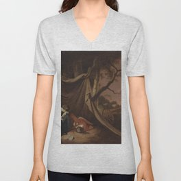 Joseph Wright of Derby - The Dead Soldier Unisex V-Neck