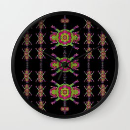 paradise flowers in a decorative jungle Wall Clock
