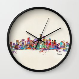 Seattle Washington skyline Wall Clock