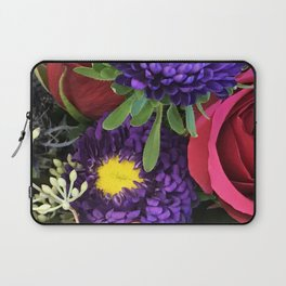 A Happy Bunch Of Colorful Flowers Laptop Sleeve