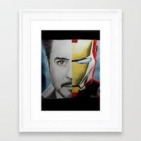 tony stark Framed Art Prints featuring Tony Stark by Goolpia