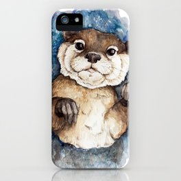Watercolor Otter iPhone Case