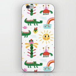 Crocodiles with happy smiles iPhone Skin
