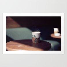 Hot Starbucks Coffee Cup Art Print