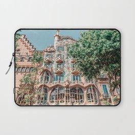 Casa Batllo, Antoni Gaudi Architecture, Barcelona Landmark, Urban Details, Downtown City, House Facade Laptop Sleeve