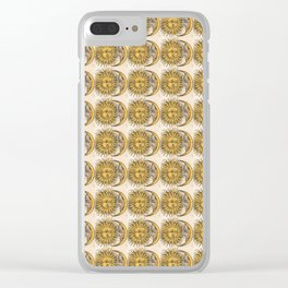 Sun and Moon Face Pattern 3 Clear iPhone Case