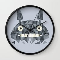 totes Wall Clocks featuring Totes by D. A. M. Good Prints