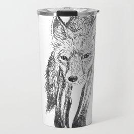 Red Fox Drawing Travel Mug