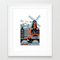 amsterdam Framed Art Prints featuring Amsterdam by koivo