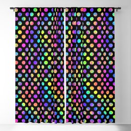 Rainbow Polka Dot Pattern Blackout Curtain