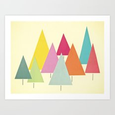 Fir Trees Art Print