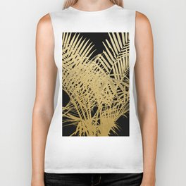 Golden Palms Biker Tank